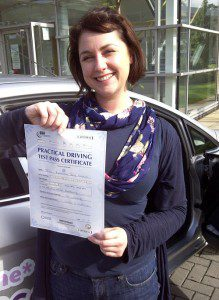 Rebekah, Manchester, passed her driving test first time with Uncle Joe's Driving School